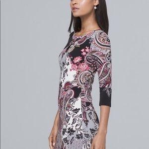 NWT WHBM paisley print dress